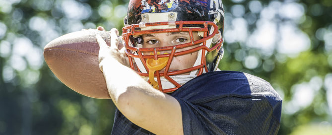teenage football player wears invisalign